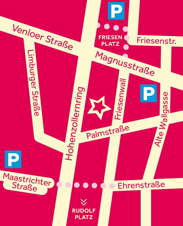 Scala Köln Lageplan